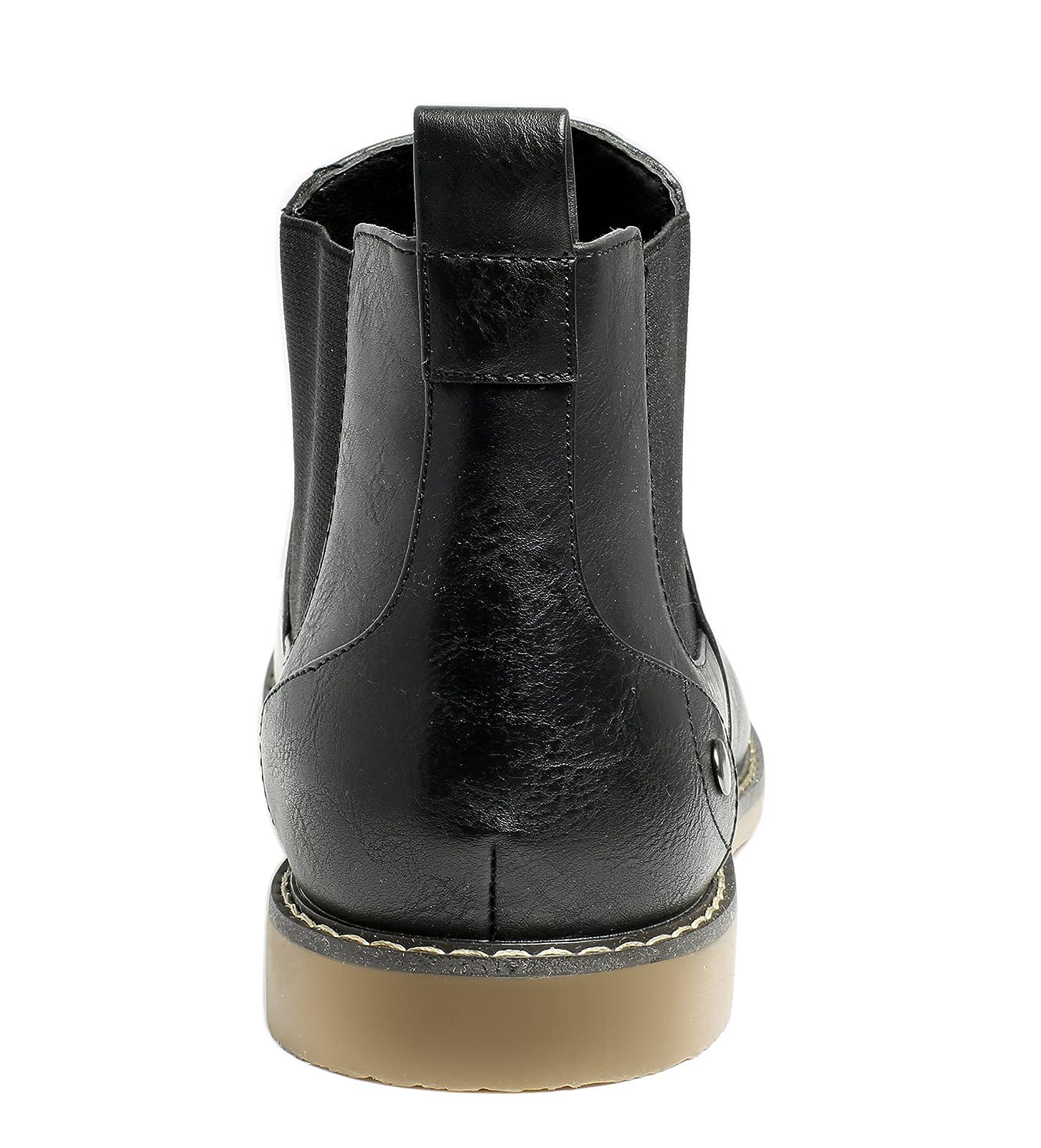 PartyEight Mens Ankle Casual Chelsea Boots Medium (D, M) US Men - 3