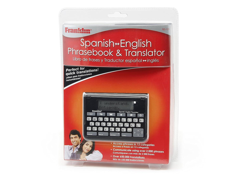 Amazon com franklin tes 121 spanish english phrasebook translator electronic foreign language translators electronics