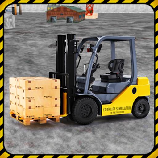 Forklift simulator warehouse