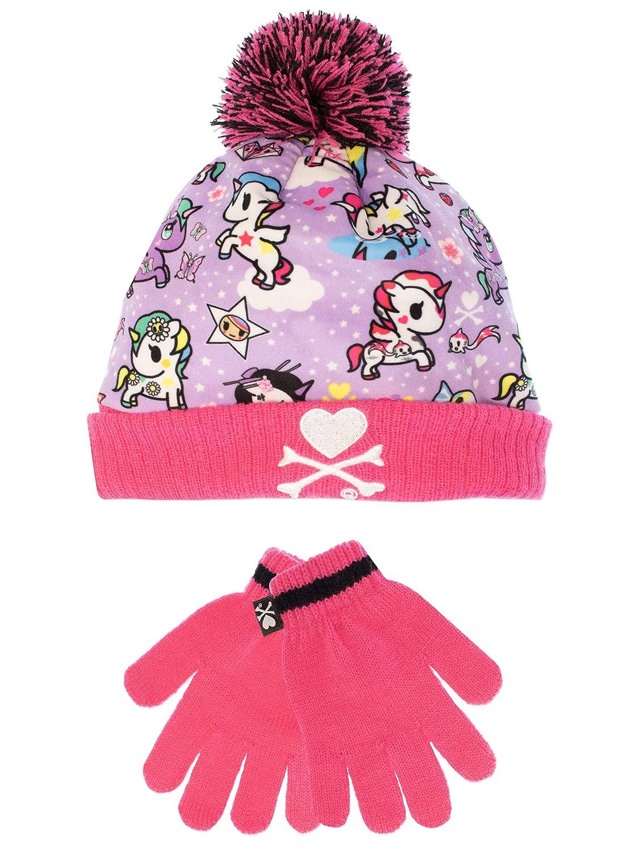 Tokidoki Girls Unicorn Hat & Gloves Set One Size …