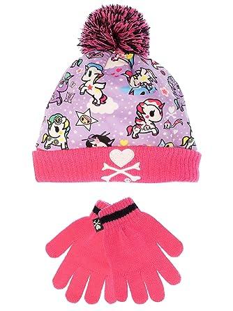 Tokidoki - Pack Bonnet et Gants - Licornes - Fille - Taille Unique ... e5bbe463c13
