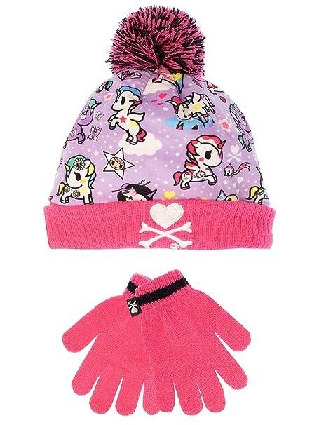 Tokidoki - Unicorno - Conjunto de gorro y guantes para niña - Un tamaño   Amazon.es  Ropa y accesorios 2e05b46f2ef