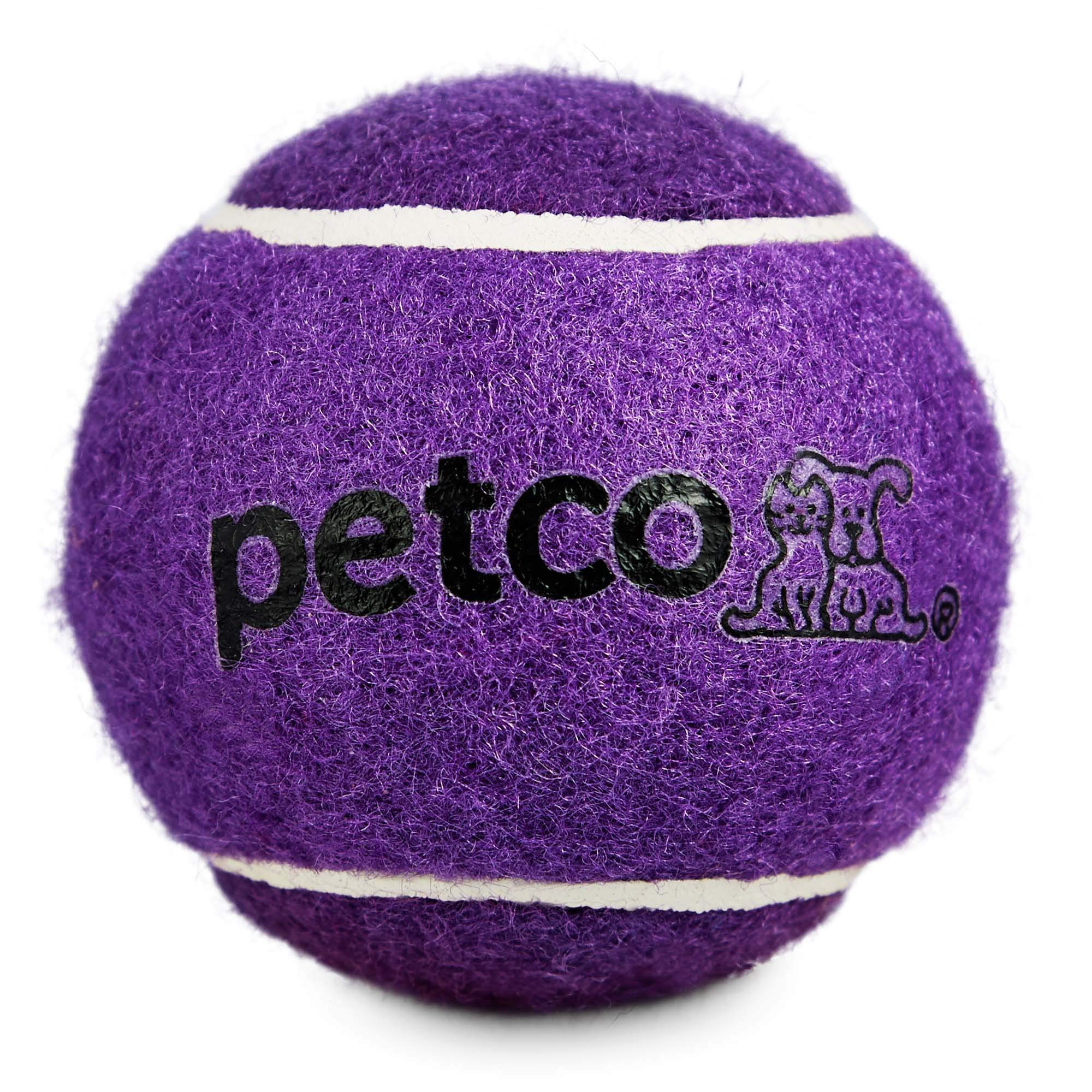 Leaps & Bounds Petco Tennis Ball Dog Toy in Purple, 2.5'', X-Small