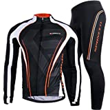 Sponeed Men's Bicycle Jersey Full Sleeve Polyester Lycra Bike Pants Compression