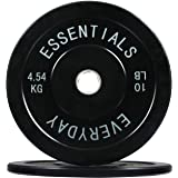 BalanceFrom Everyday Essentials Color Coded Olympic Bumper Plate Weight Plate with Steel Hub, Pairs or Sets