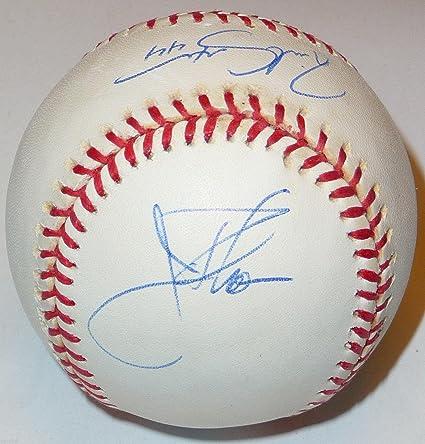 698daf43de7 Jim Thome   Richie Sexson Dual Signed Vintage Roalb Ball Cleveland ...