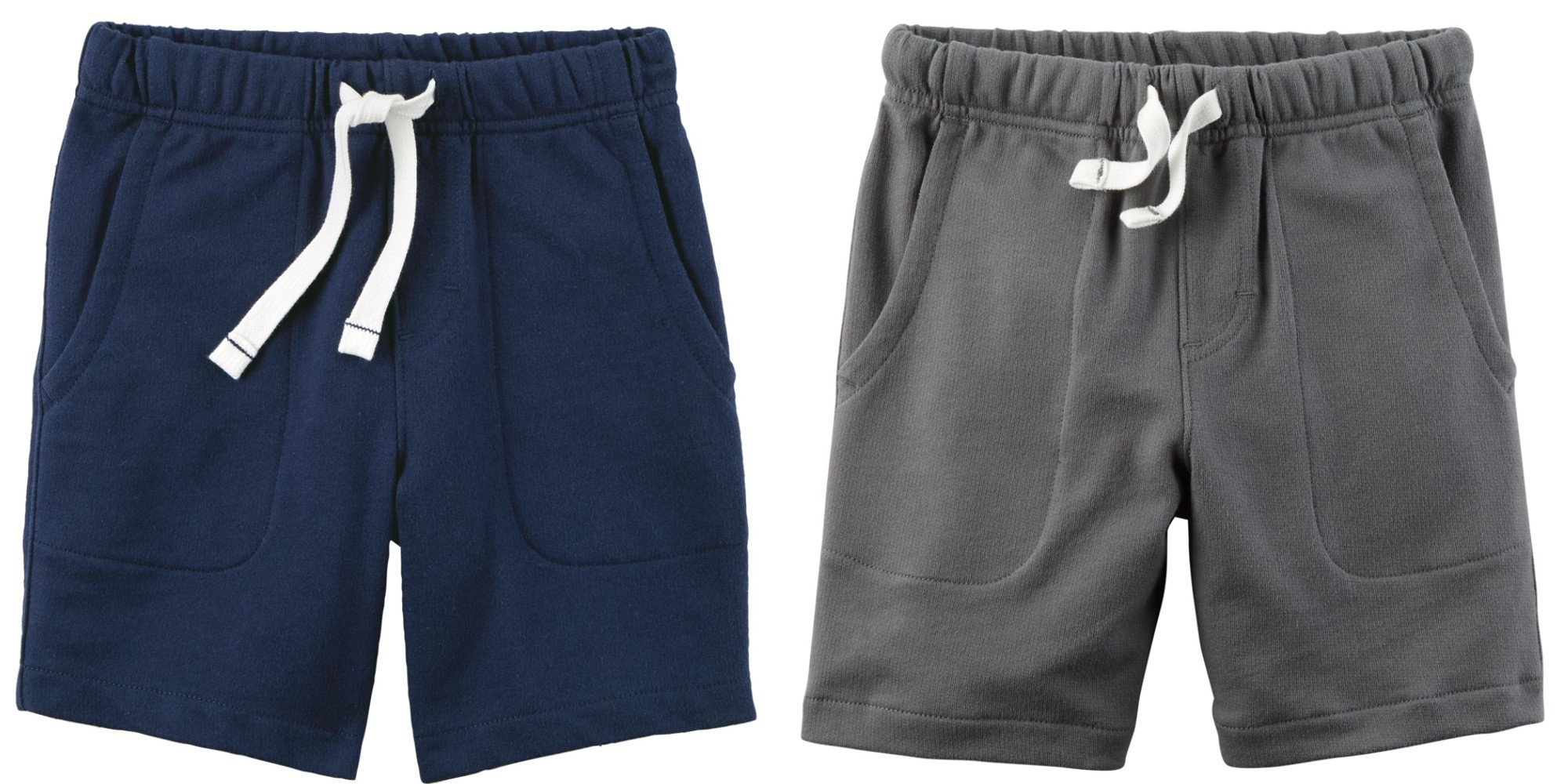 Carter's Set of 2 Boy's Cotton Pull On Shorts Toddler Little and Big Boys (5T, Dark Grey and Navy Blue) by Carter's Baby Clothing (Image #1)
