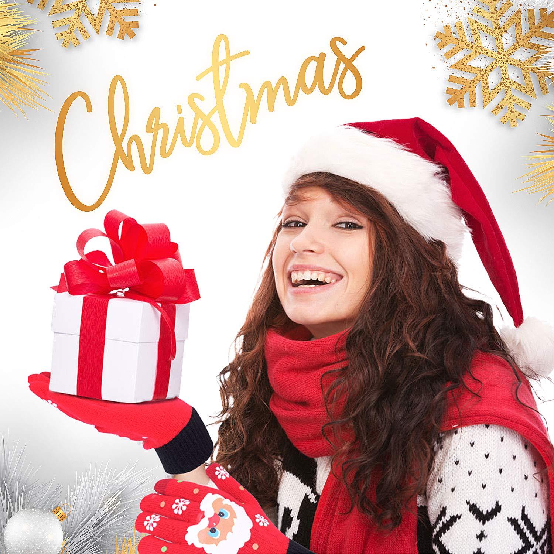 13 Paar Christmas Socks Kuschelsocken Baumwollsocken Festliche Socken Design f/ür Damen und Herren 12 Paar Und 1 Paar Weihnachtshandschuhe Rongli Weihnachtssocken