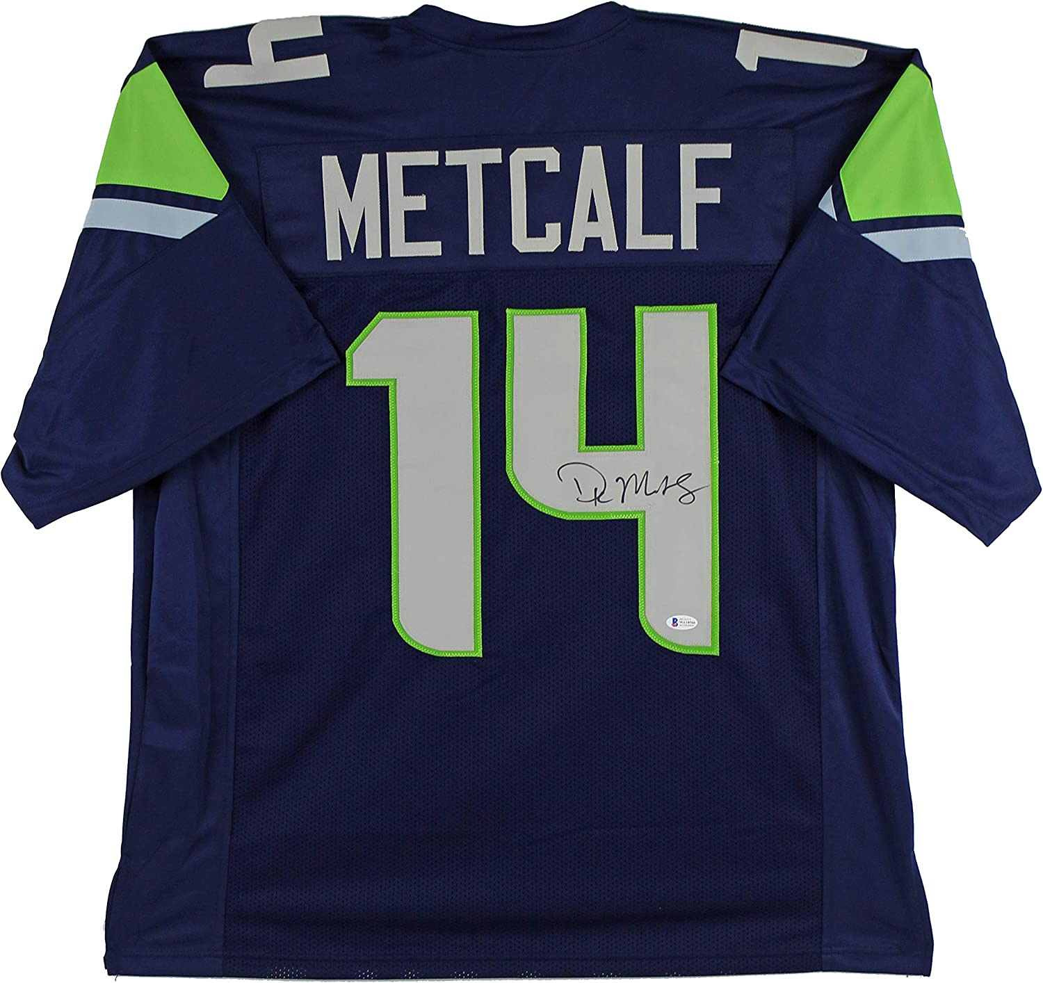 Seahawks D.K. Metcalf Authentic Signed Navy Blue Jersey Autographed BAS