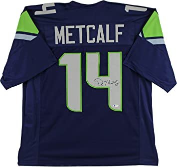 Amazon Com D K Metcalf Authentic Signed Navy Blue Pro Style Jersey Autographed Bas Sports Collectibles