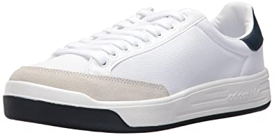 adidas Originals Men's Shoes | Rod Laver Super Sneakers,  White/White/Collegiate Navy