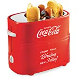 Nostalgia HDT600COKE Coca-Cola Pop-Up 2 Hot Dog and Bun Toaster, With Mini Tongs, Works With Chicken, Turkey, Veggie…