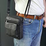 Small Leather Cross Body Messenger Bags Satchel Men