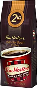 Tim Horton's 100% Arabica Medium Roast, Original Blend, Whole Bean Coffee, 2 pound Bag