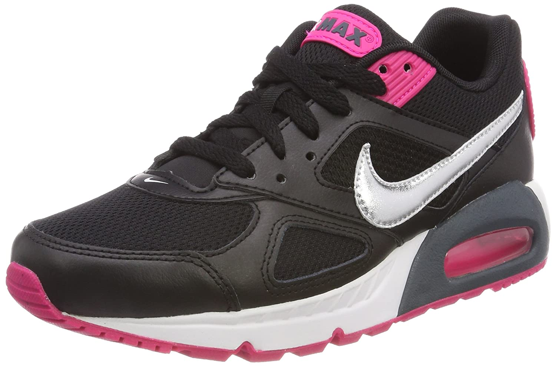 Nike Wmns Air MAX IVO, Zapatillas de Running para Mujer, (Negro/Plata Metalizado 002), 39 EU