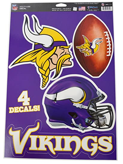 size 40 e6420 9ece4 Official National Football League Fan Shop Licensed NFL Shop Multi-use  Decals (Minnesota Vikings)