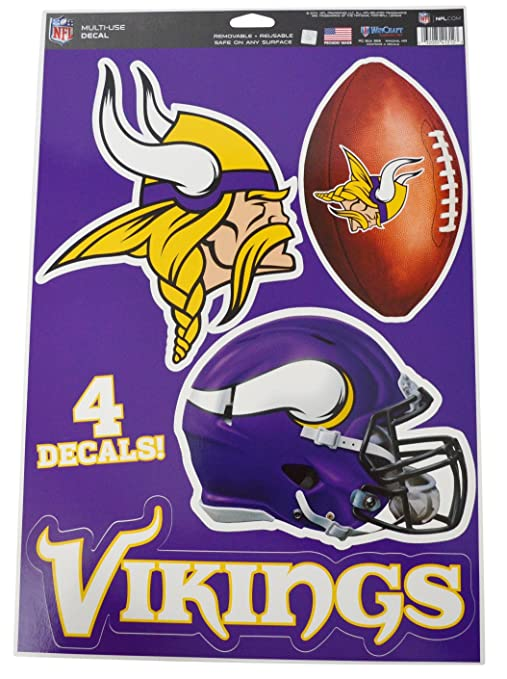 e4a1549e5 Image Unavailable. Image not available for. Color  Official National  Football League Fan Shop Licensed NFL Shop Multi-use Decals (Minnesota  Vikings