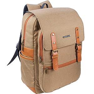 2e609a0f2f27 Killer Ripon Trendy Stylish Waterproof Khakhi Canvas Casual Laptop Backpack
