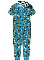 Boys Onesie Pyjamas Despicable Me Minions 2-14 Years Eye Mask Short Sleeved
