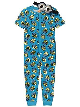 bab80e1613 MINIONS - Pijama de una pieza - para niño Azul azul  Amazon.es  Ropa y  accesorios