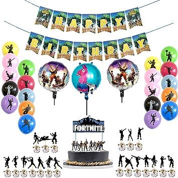 MJHE Juego de artículos para Fiesta de 41 Piezas,19 Globos de Fiesta,Pancarta de Feliz cumpleaños y cumpleaños de 21 Piezas Cake Topper/Cupcake ...