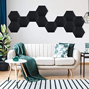 3D Acoustic Panels LETIGO 12 Pack Acoustic Panels Soundproof Padding High Density Decorative Sound Dampening Panels for Home and Offices 14