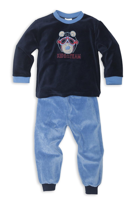 b1e56a91abc323 Moonline Nicki Schlafanzug mit Bündchen an Arm- und Beinabschluss für Jungen