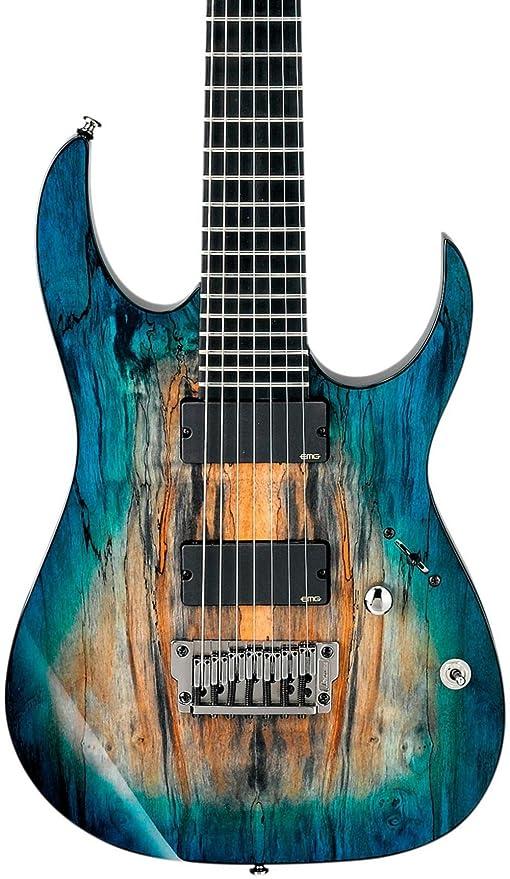 Ibanez Iron Label RG Series rgix27fesm (7 cuerdas Guitarra eléctrica de niebla teñida azul