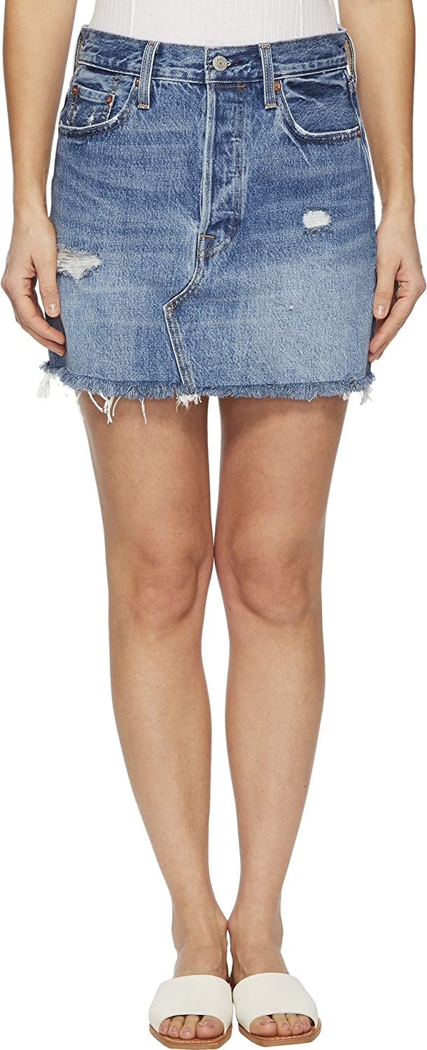 ddb1baafd Levi's® Premium Women's Deconstructed Skirt Hole in One 24 at Amazon Women's  Clothing store:
