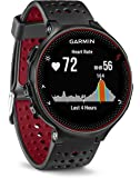 Garmin Forerunner 235 GPS Running Watch with Elevate Wrist Heart Rate and Smart Notifications, Black/Red