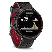 Garmin Forerunner 235 GPS Running Watch with Elevate Wrist Heart Rate and Smart Notifications, Black/Marsala Red