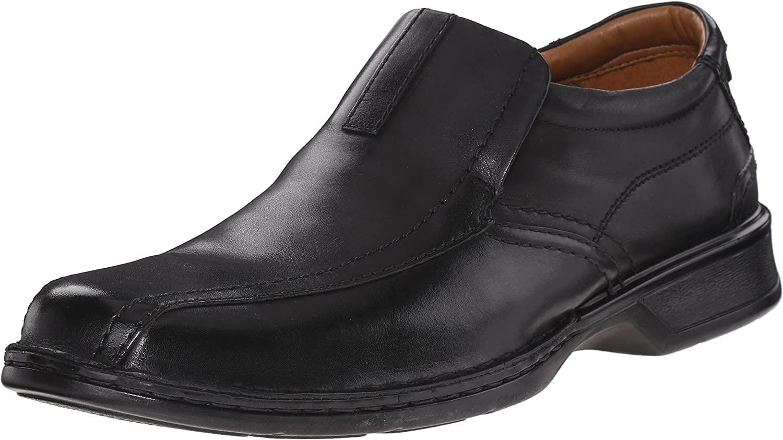 Clarks Men/'s Escalade Step Leather Slip On Ortholite Comfort Dress Loafer