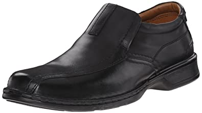 bb04ebe4f07 Clarks Men s Escalade Step Slip-on Loafer- Black Leather 7 D(M)