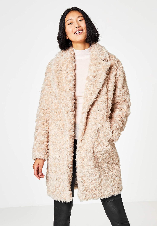 HALLHUBER O Shape Mantel aus Fake Fur O Shape Creme, 34