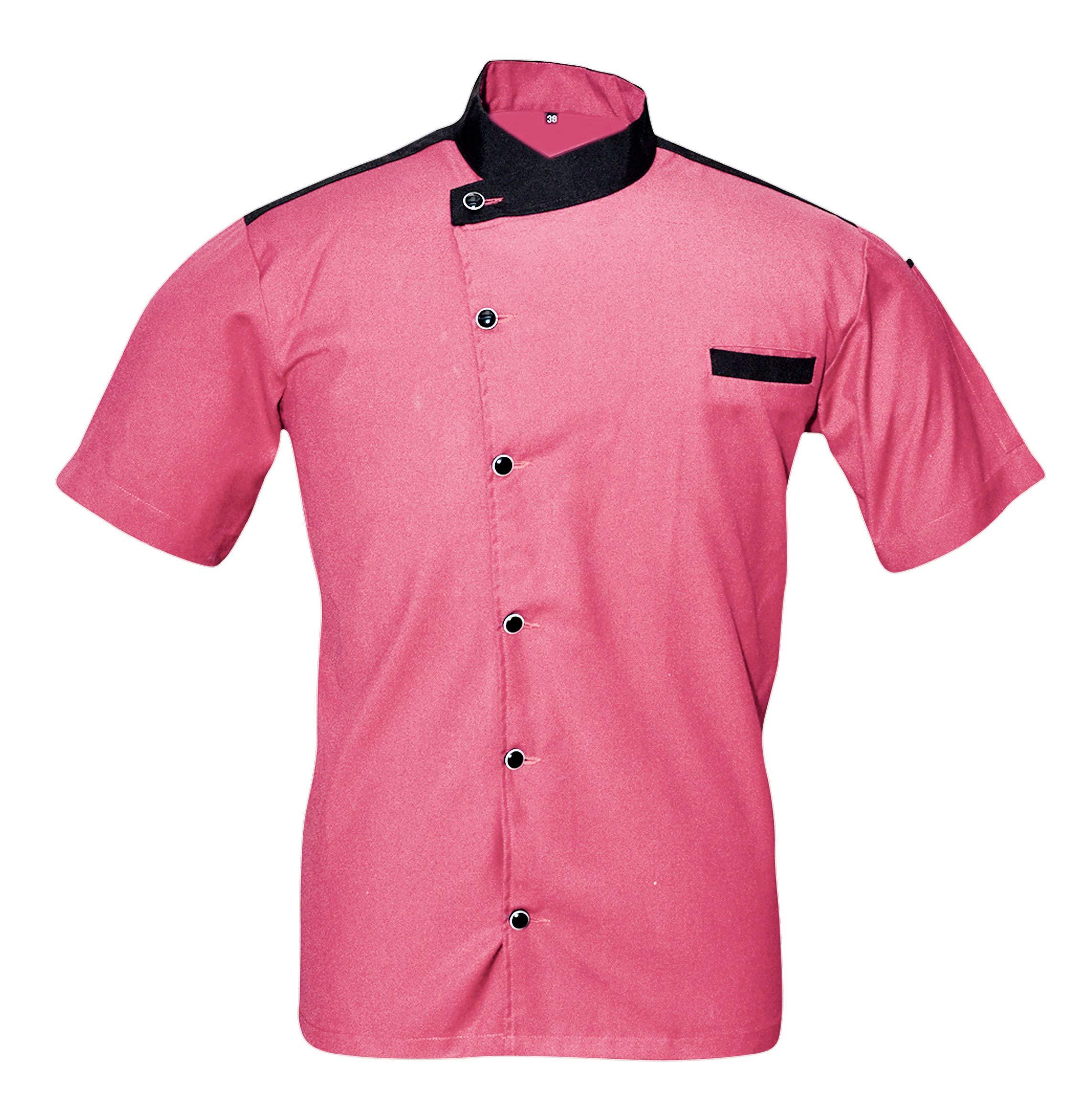 Leorenzo Creation LC-55 Men's Chef Coat (Size- L, Pink Colour)