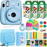 Fujifilm Instax Mini 11 Camera with Fuji Instant Film (60 Sheets) + DEALS NUMBER ONE Accessories Bundle Includes Case…