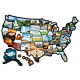 RV State Stickers United States - Travel Camper Map RV Decals for Window, Door, or Wall ~ Includes 50 State Decal…