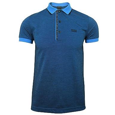 cac2adb3a BOSS Hugo Paule 4 Mens Blue Polo Shirt S: Amazon.co.uk: Clothing