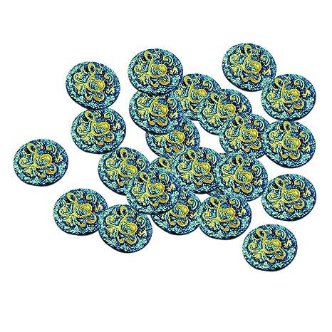D DOLITY 50PCS Arte de Gemelos de Decoración de Tarjeta de Invitaciones Cuentas Para Scrapbooking DIY