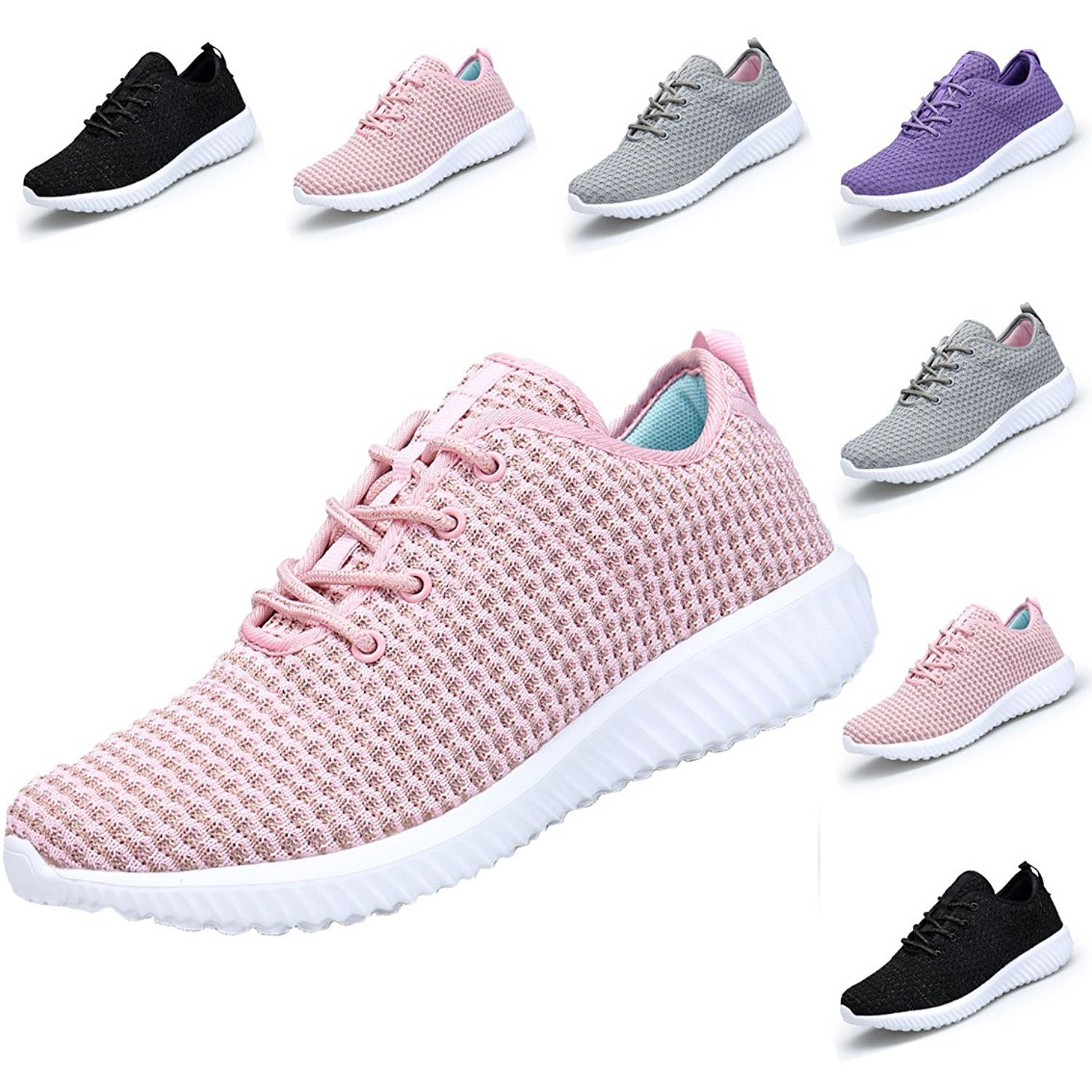DOMOGO Lightweight Shoes Women Sneakers Casual Sport Shoes B077JTQW86 EU 37/Women 7M|Pink