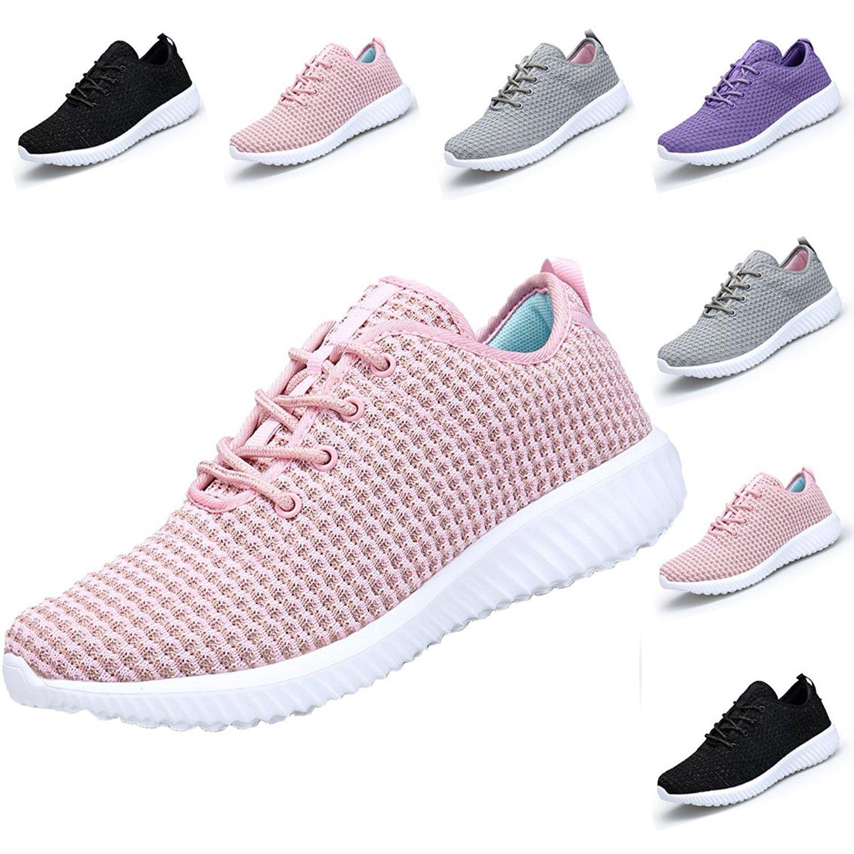 DOMOGO Lightweight Shoes Women Sneakers Casual Sport Shoes B077KBC9BW EU 39/Women 8.5M|Pink