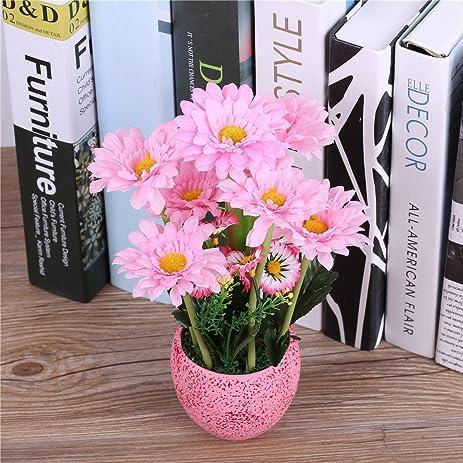 Amazon 8x25cm Silk Gerbera Daisy Flower Arrangements With Vase