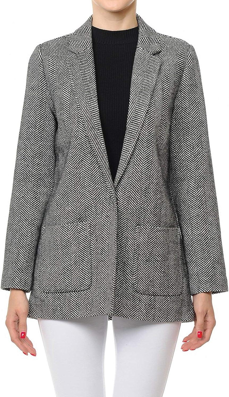 OLLIE ARNES Womens Versatile Double-Breasted Wool-Blend Pea Coats