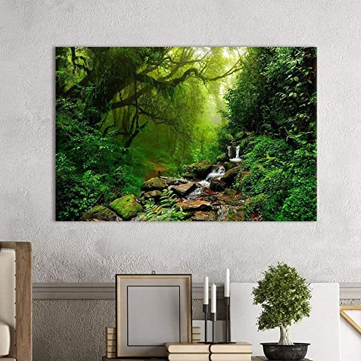 Poster Window View Office Room Wall Decoration Art Wall Cloth Print 507