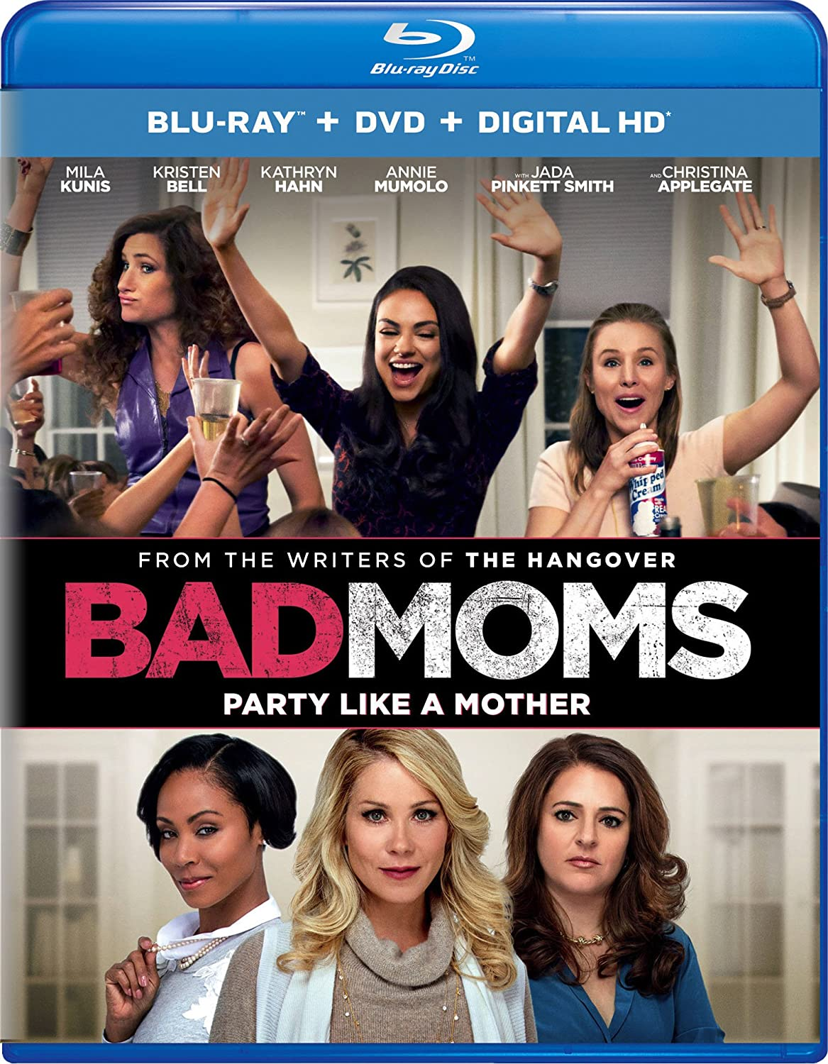 Amazon: Bad Moms [bluray]: Mila Kunis, Kristen Bell, Kathryn Hahn, Jay  Hernandez, Jada Pinkett Smith, Jon Lucas: Movies & Tv