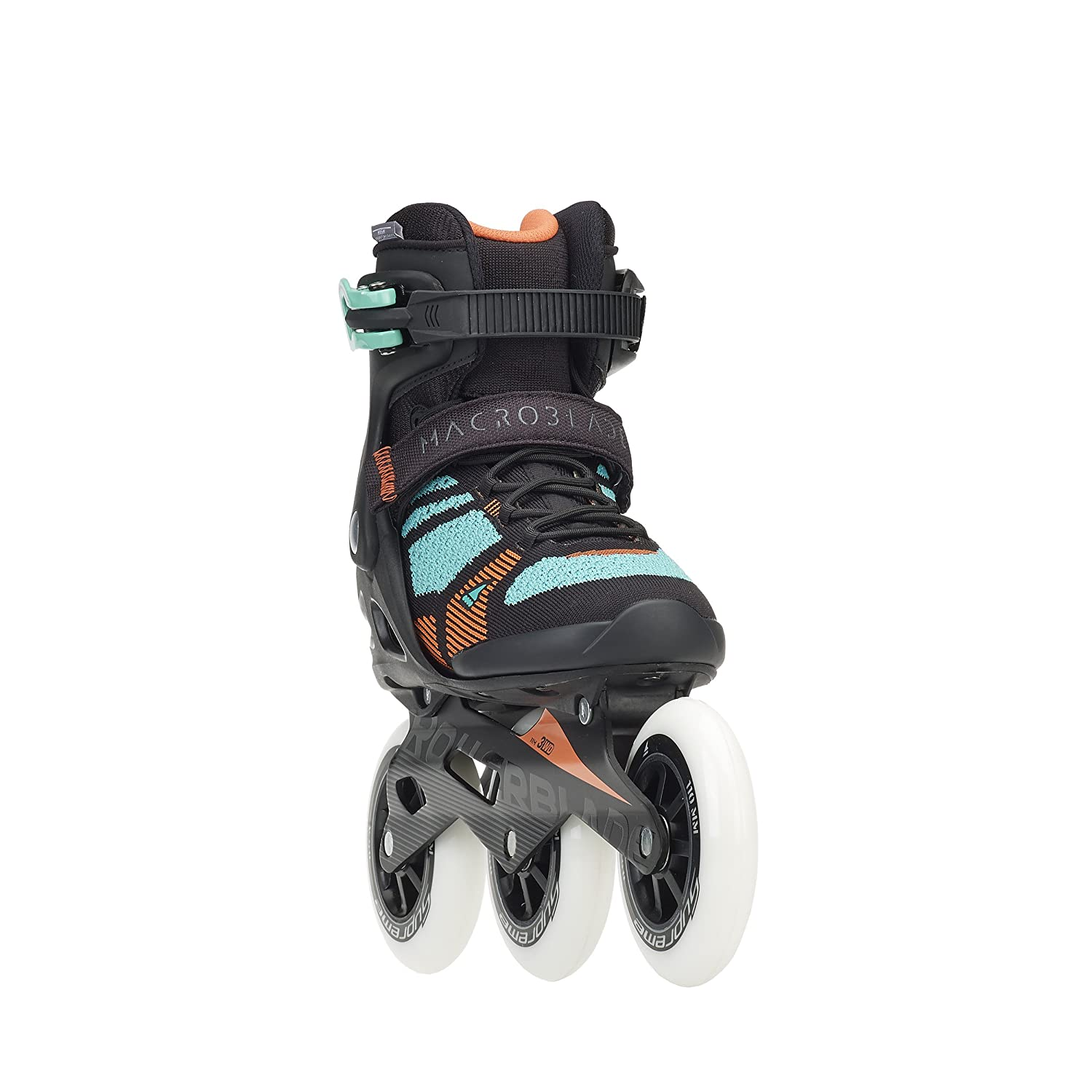 Rollerblade Macroblade 110 3WD Women s Adult Fitness Inline Skate, Black and Emerald, High Performance Inline Skates