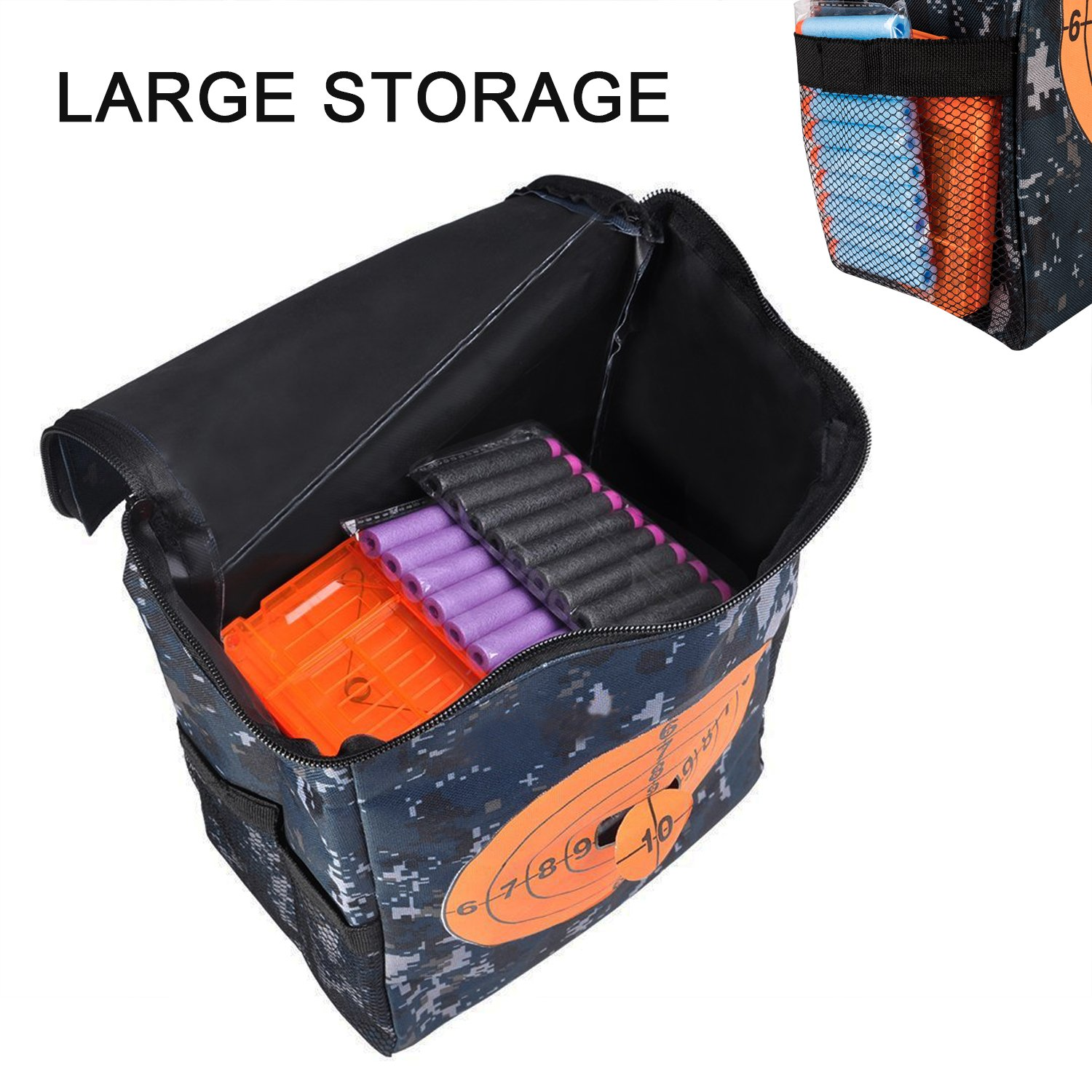 Mega xdy mylany Target Pouch Storage Carry Equipment Bag for Nerf Guns Darts N Strike Elite Rival Series
