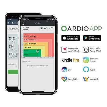 QardioArm Smart Blood Pressure Monitor: Wireless, Medically Accurate,  Compact Digital Upper Arm