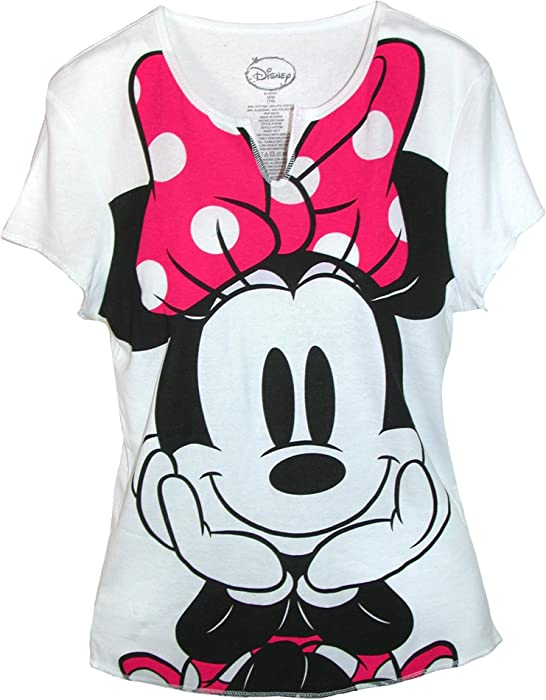Amazoncom Disney Womens Minnie Mouse Tee Shirt Top Small White