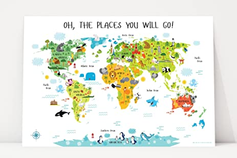 Amazon map for kids by pictureta nursery dcor baby gifts map for kids by pictureta nursery dcor baby gifts world map poster gumiabroncs Image collections